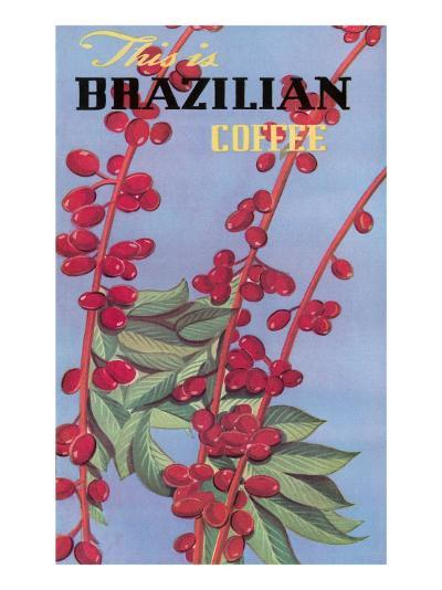 Brazilian Coffee, Beans--Art Print