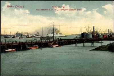 Bre Dötlingen, Partie Am Pier, S.M.S. Thüringen--Giclee Print