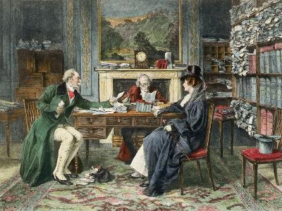 Breach of Promise, Published 1895-Walter Dendy Sadler-Giclee Print