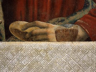 Bread and Wine, with Hand of Saint Andrew, from the Last Supper, Fresco C.1444-50 (Detail)-Andrea Del Castagno-Giclee Print
