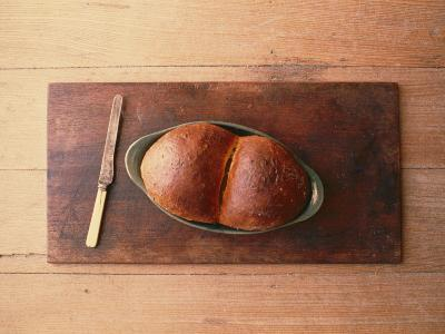 Bread Laid out on a Simple Table Setting-Sam Abell-Photographic Print