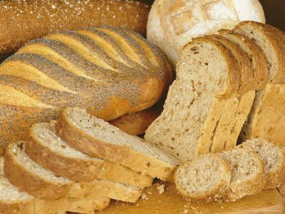Bread Loaves and Slices of Bread-Lee Frost-Photographic Print