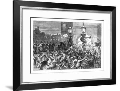 Bread Riots at the Entrance to the House of Commons, Westminster, London, 1815--Framed Giclee Print