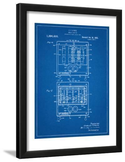 Bread Toaster Patent--Framed Art Print