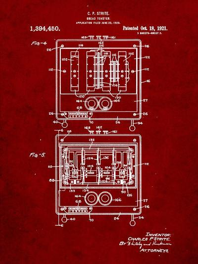 Bread Toaster Patent-Cole Borders-Art Print