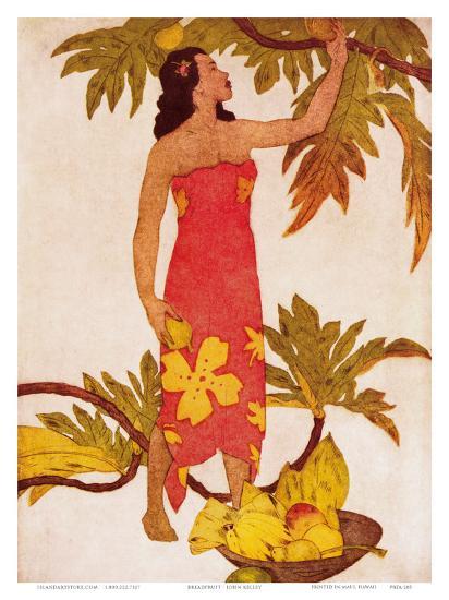 Breadfruit, Royal Hawaiian Hotel Menu Cover c.1950s-John Kelly-Art Print
