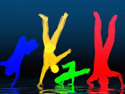 Breakdancers-Carol & Mike Werner-Photographic Print
