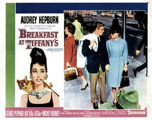Breakfast at Tiffany's, L-R, George Peppard, Audrey Hepburn, 1961