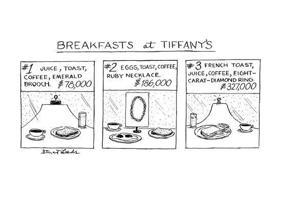 Breakfast at Tiffany's - New Yorker Cartoon Premium Giclee Print by Stuart  Leeds | Art com