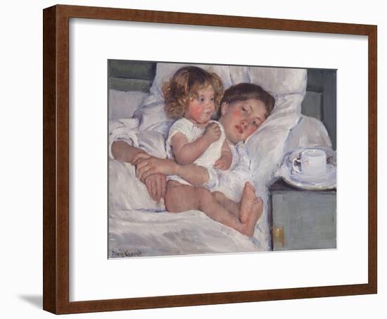 Breakfast in Bed, 1897-Mary Cassatt-Framed Premium Giclee Print
