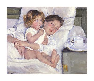 Breakfast In Bed-Mary Cassatt-Premium Giclee Print