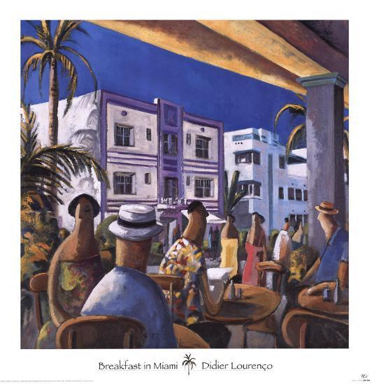 Breakfast in Miami-Didier Lourenco-Art Print