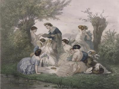 Breakfast in the Spring, Engraved by Regnier, Bettannier and Morlon-A. de Beaumont-Giclee Print