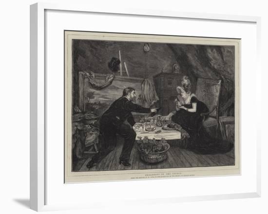 Breakfast in the Studio--Framed Giclee Print