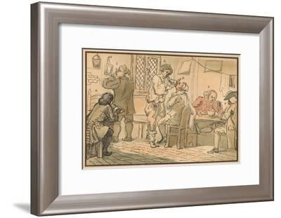 'Breakfast scene from 'The Five Days Peregrination', 1732-William Hogarth-Framed Giclee Print