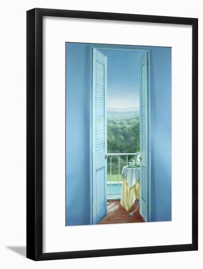 Breakfast, St. Maxime, 1984-Lincoln Seligman-Framed Giclee Print