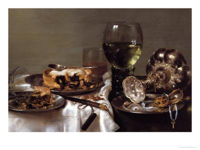 Breakfast Still-Life-Willem Claesz^ Heda-Giclee Print