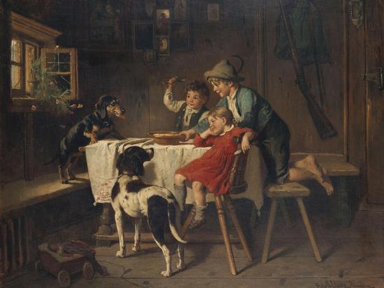Breakfast Time-Adolf Eberle-Giclee Print