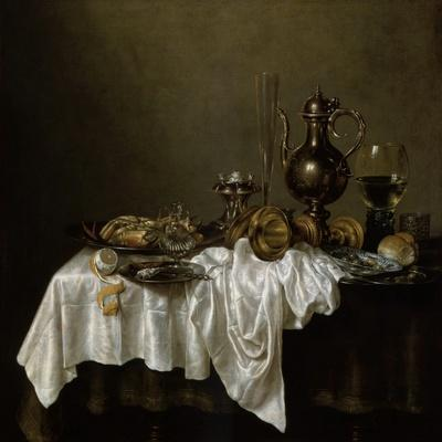 Breakfast with a Lobster, Dutch Painting of 17th Century-Willem Claesz Heda-Giclee Print