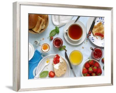 Breakfast with Strawberry Jams--Framed Photographic Print