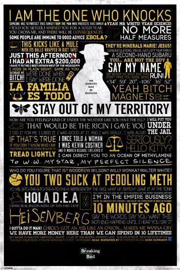 Breaking Bad - Typographic--Poster