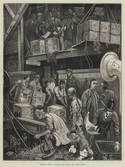 Breaking Bulk on Board a Tea Ship in the London Docks-William Bazett Murray-Giclee Print