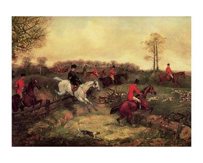 Breaking Cover-Henry Thomas Alken-Art Print