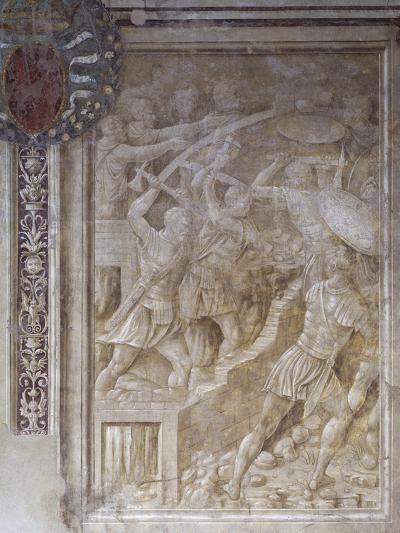 Breaking Down Walls of Sarmizegetusa, Scene from Cycle on Trajan's Column, 1511-1513-Baldassare Peruzzi-Giclee Print