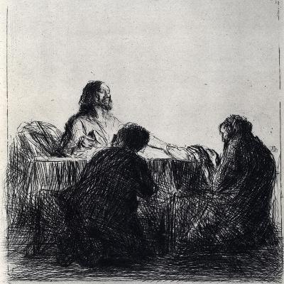Breaking of the Bread, 1925-Jean Louis Forain-Giclee Print
