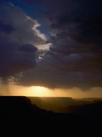 Breaking Storm at Sunset over the Grand Canyon from Yaki Point on the South Rim--Photographic Print