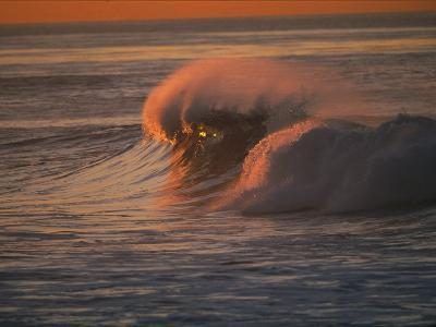 Breaking Surf at Sunset in La Jolla-Tim Laman-Photographic Print