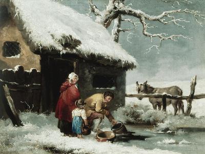 Breaking the Ice-George Morland-Giclee Print
