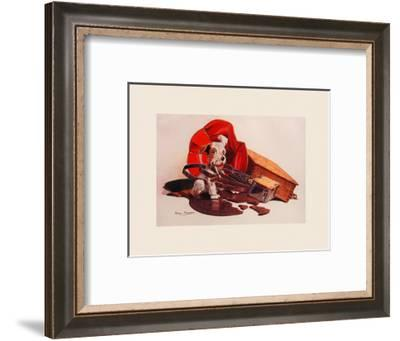Breaking the Record-Philip Baynes-Framed Premium Giclee Print