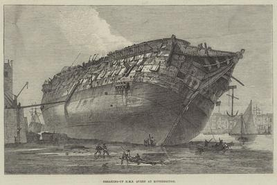 Breaking-Up HMS Queen at Rotherhithe-Frank Watkins-Giclee Print