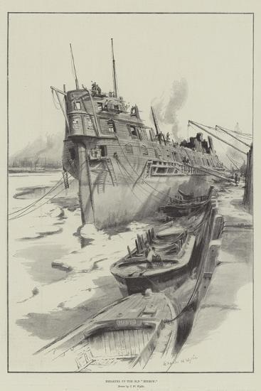 Breaking Up the Old Benbow-Charles William Wyllie-Giclee Print
