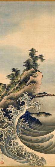 Breaking Waves, Edo Period, 1847-Katsushika Hokusai-Giclee Print