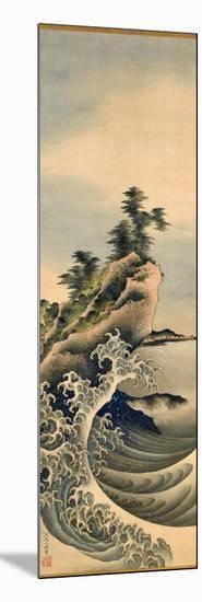 Breaking Waves, Edo Period, 1847-Katsushika Hokusai-Mounted Giclee Print