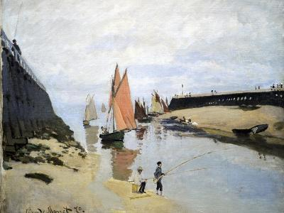 Breakwater at Trouville, Low Tide, 1870-Claude Monet-Giclee Print