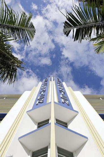Breakwater Hotel, Facade, Art Deco Hotel, Ocean Drive, South Miami Beach-Axel Schmies-Photographic Print