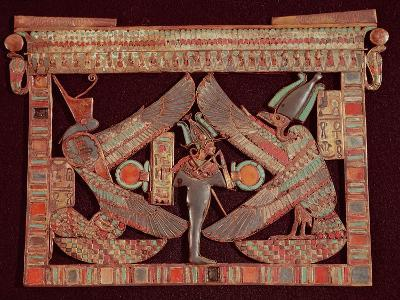 Breast Plate of Osiris, God of the Afterworld, from the Tomb of Tutankhamun, in the Valley of The--Giclee Print