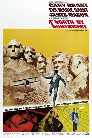 """Breathless, 1959, """"North by Northwest"""" Directed by Alfred Hitchcock--Giclee Print"""