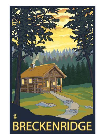 Breckenridge, Colorado - Cabin in Woods, c.2008-Lantern Press-Art Print