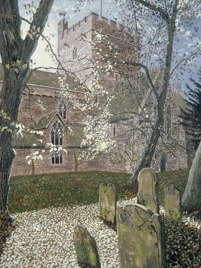 Brecon Cathedral, Autumn Day, 1992-Huw S. Parsons-Giclee Print