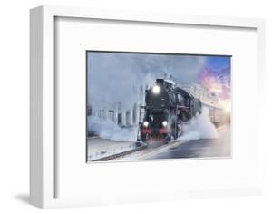 Retro Steam Train. by Breev Sergey