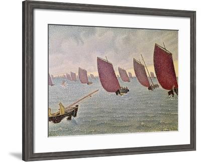 Breeze, Concarneau, 1891-Paul Signac-Framed Giclee Print