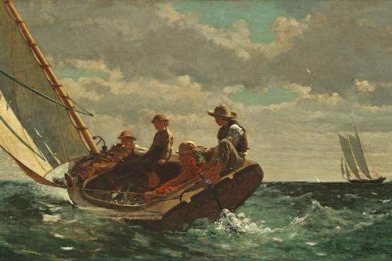 Breezing Up (A Fair Wind) 1873-76-Winslow Homer-Premium Giclee Print