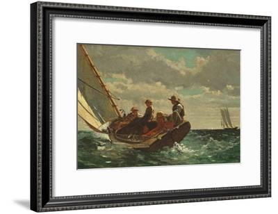 Breezing Up (A Fair Wind) 1873-76-Winslow Homer-Framed Giclee Print
