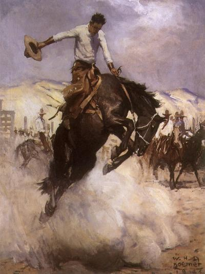 Breezy Riding, 1926--Giclee Print