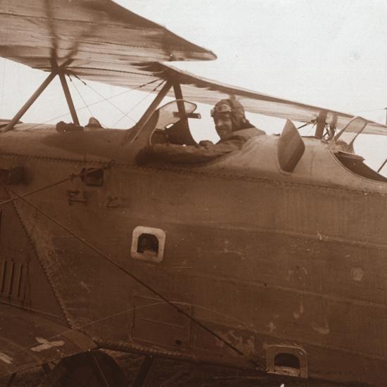 Breguet biplane taking off, c1914-c1918-Unknown-Photographic Print