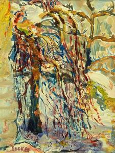 Willow tree in the snow by Brenda Brin Booker